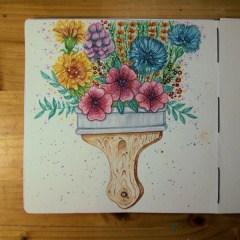 Blumenpinsel