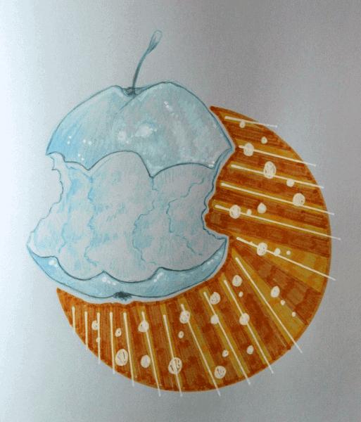 500 Drawing Prompts Half-eaten Apple