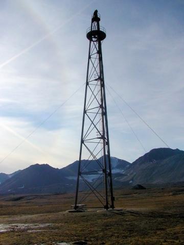 Landemast der Nordpol-Expedition von Amundsen, Ellsworth und Nobile