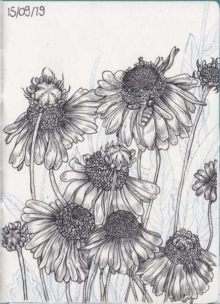 Tintenblumen