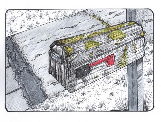 Bild Briefkasten mit Tinte