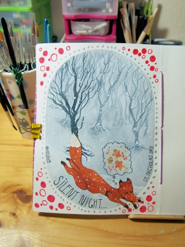 A fox dreaming of... Washi tape?!