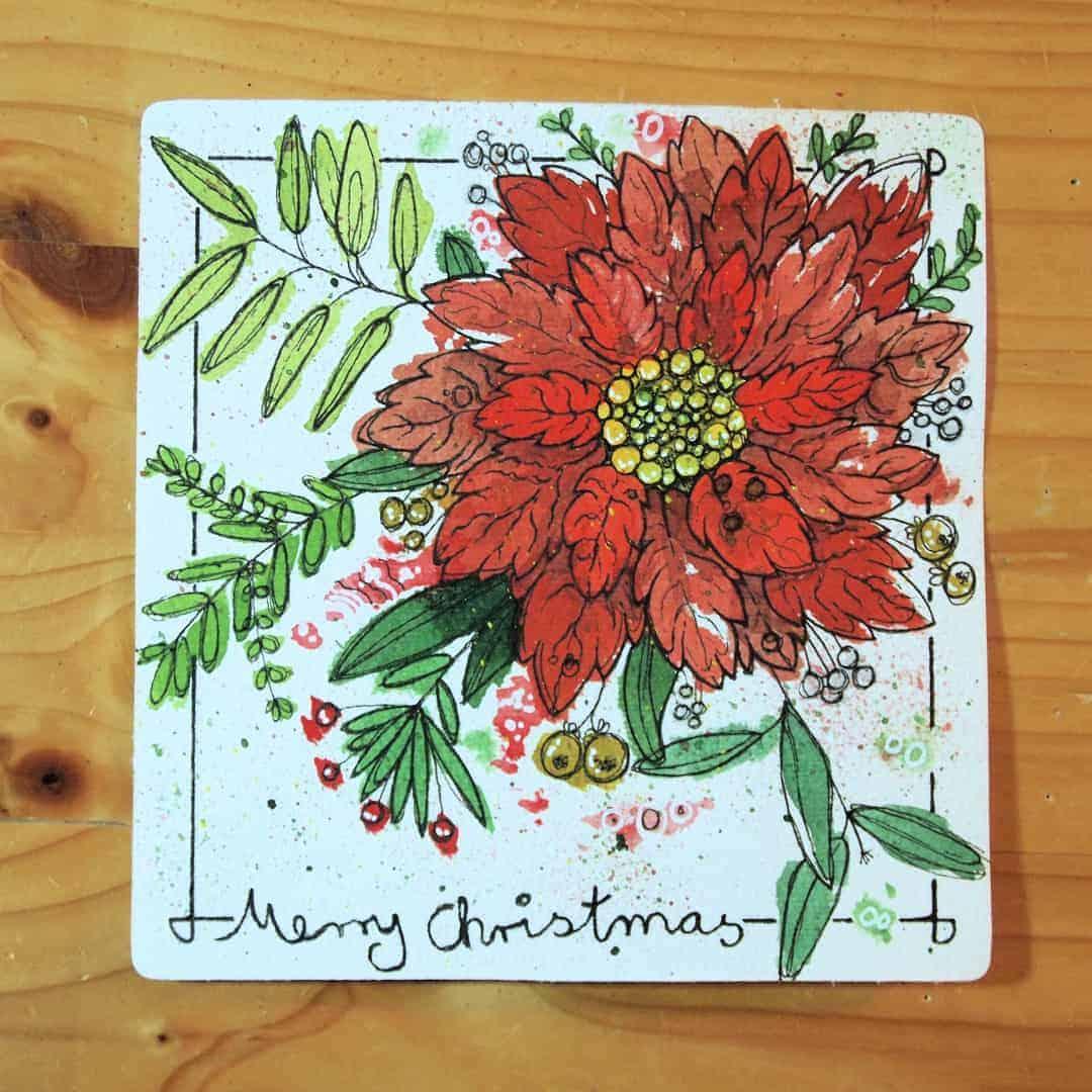 Weihnachtskarte für meine Mutter