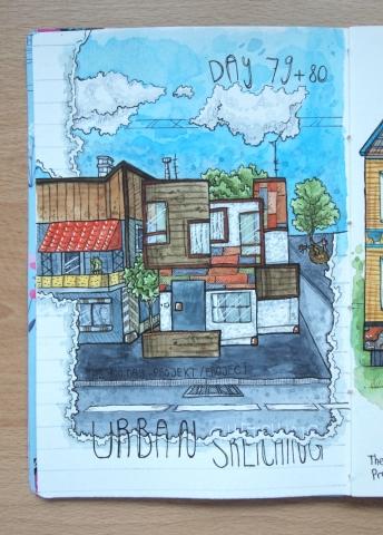 Bild Urban Sketching Haus