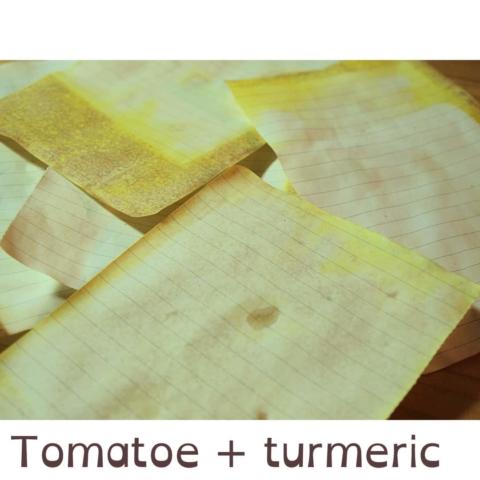 Färben: Tomate + Kurkuma
